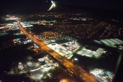 2016Mar Over Houston at Night