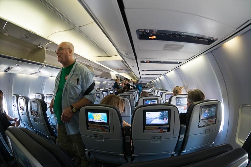 A 737 looks spacious through a 10.5mm superwide!