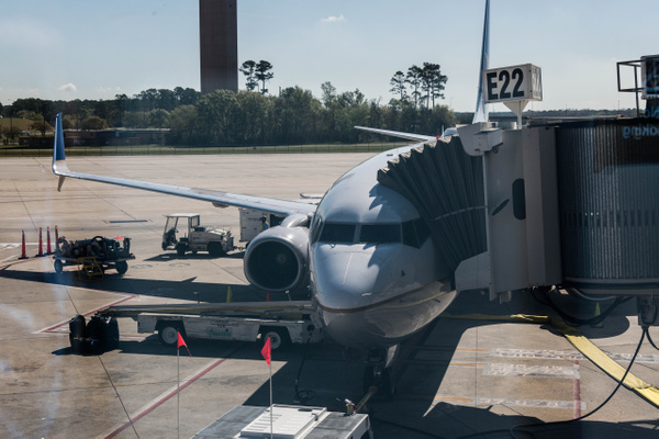 Our 737,  much nicer than the ATRs we flew on last year...