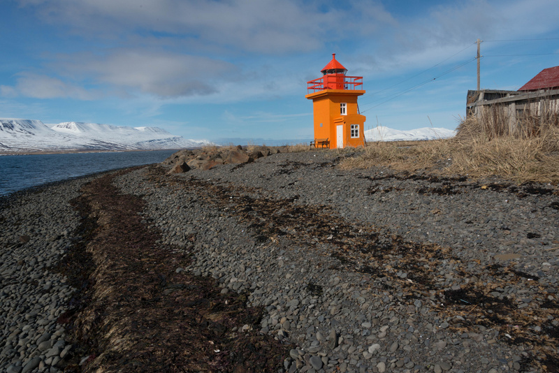 Svalbarðseyri lighthouse looking north