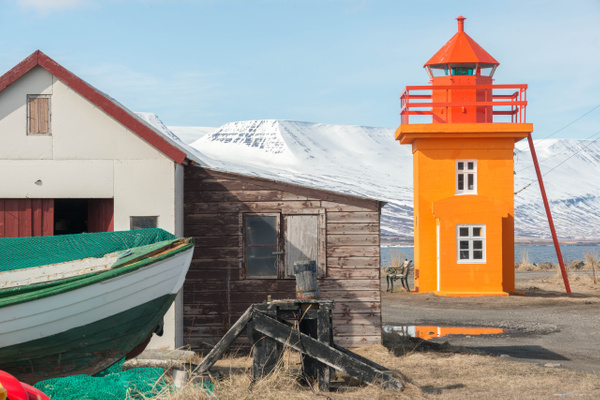 Now for some lighthouse photos at Svalbarðseyri by...