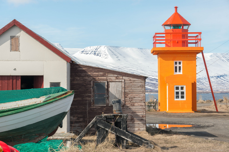 Now for some lighthouse photos at Svalbarðseyri
