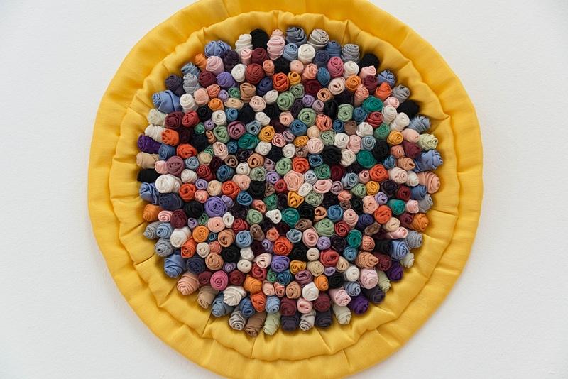 Multi-colored sunburst