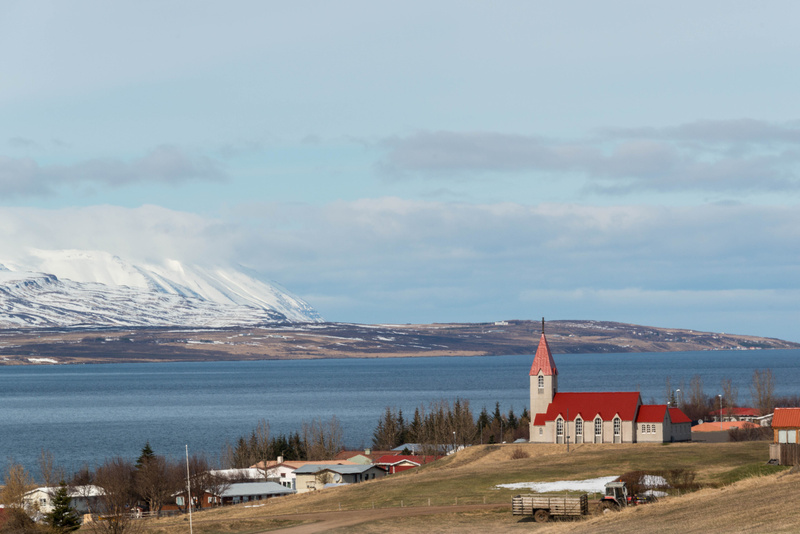 Going north and east from Akureyri we come to Svalbarðseyri, across the fjord.