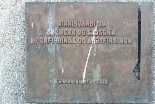 'Monuments to the fishermen and fishing of Hornafirði...