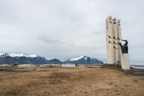 Seaman's Monument at Óslandsvegur,  dedicated to...