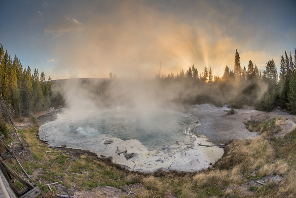 Day 4 Eve Norris Geyser Basin by Willis Chung