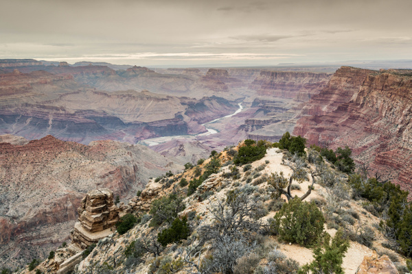 Desert View Watchtower view by Willis Chung