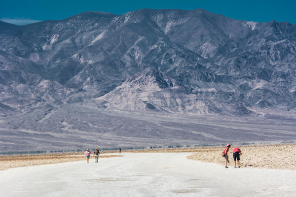 Hiking the salt pan at Badwater by Willis Chung