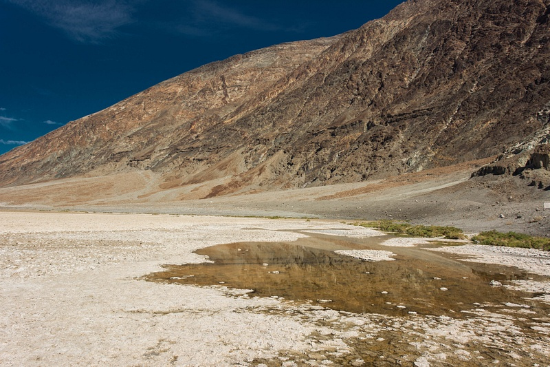 Deep blue skies over Badwater