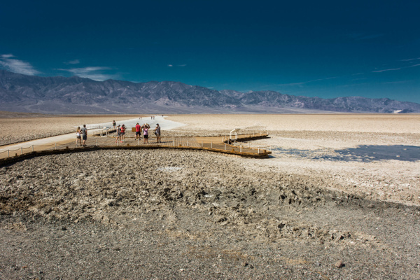 Down at Badwater for a quick photo stop by Willis Chung