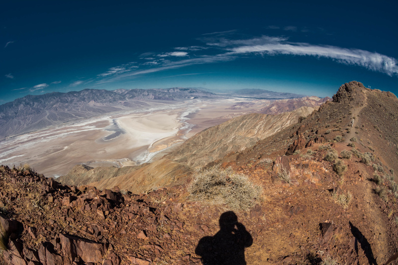 Clouds high over Death Valley