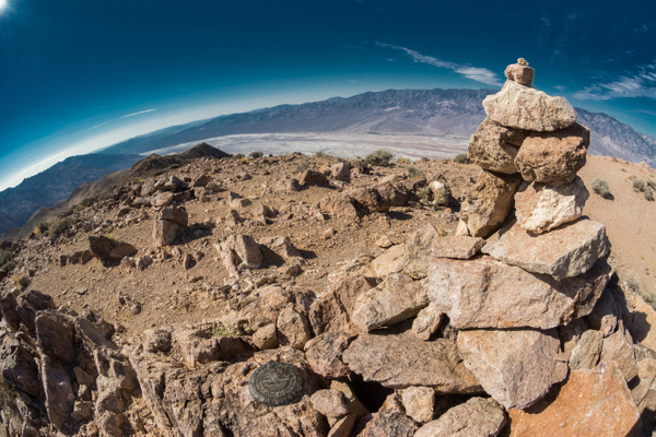 Cairn marking trail north of Dante's View. by Willis...