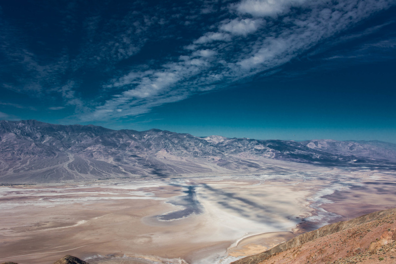 Looking further to the north across Death Valley