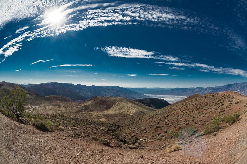 Dante's View overlooking Death Valley, superwide