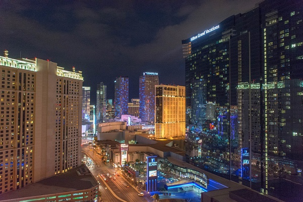 Our view from the balcony at The Signature at MGM Grand...