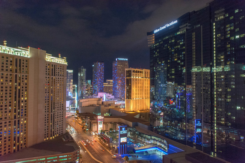 Our view from the balcony at The Signature at MGM Grand