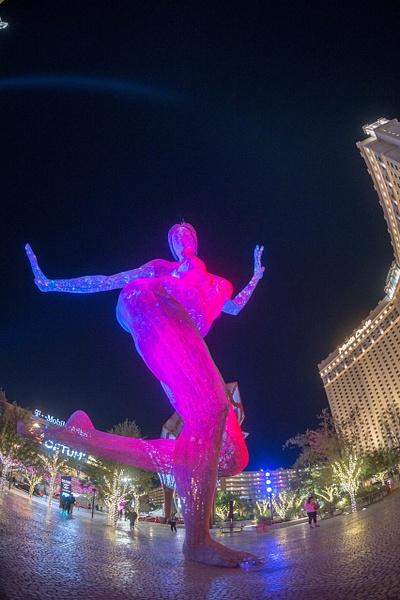 Bliss Dance sculpture, The Park, Las Vegas by Willis...