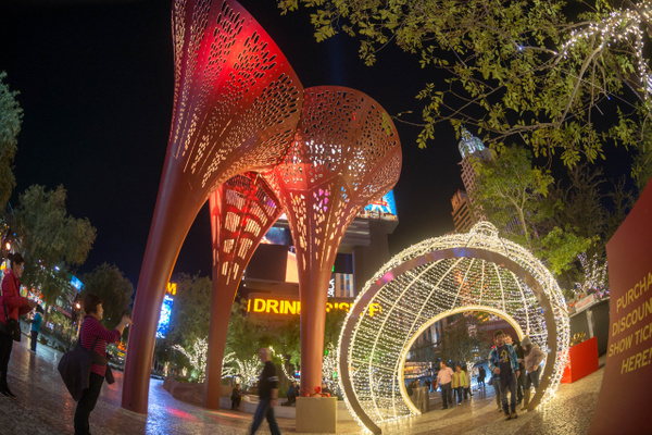 Some Christmas ornaments, Vegas style by Willis Chung