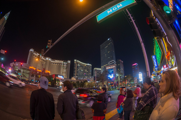 Evening walk on the Strip by Willis Chung