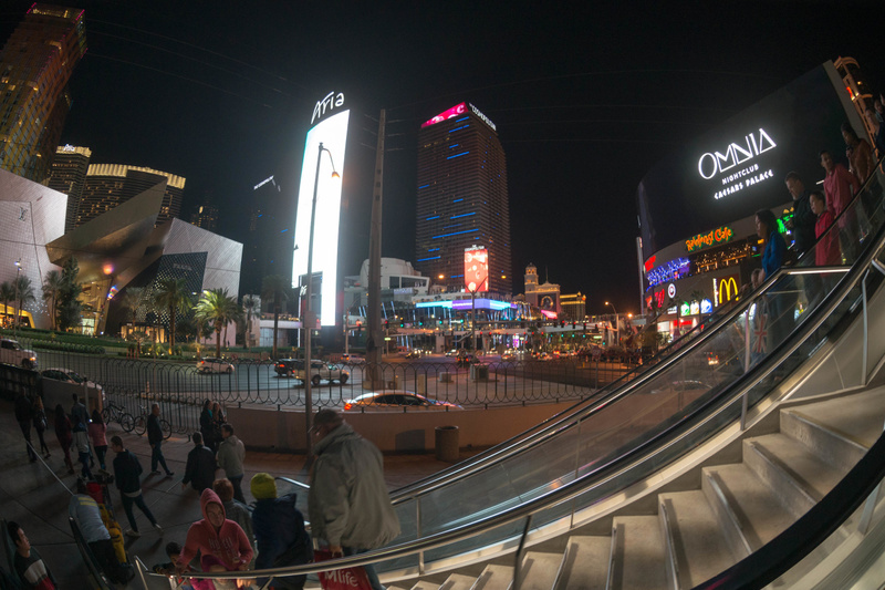 Evening walk on the Strip