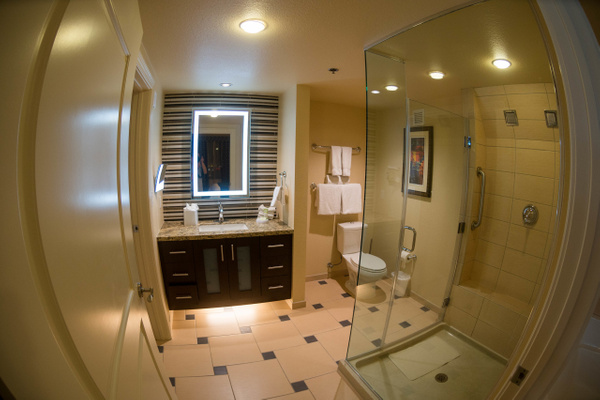 Another view of the bathroom in our spectacular room at...