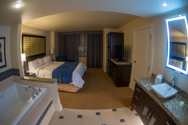 The bedroom in our spectacular room at the Marriott's...