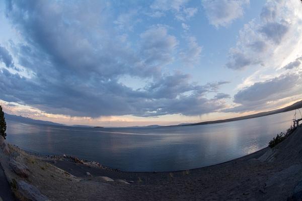 Day 6 PM Views of Lake Yellowstone at Lake Lodge by...