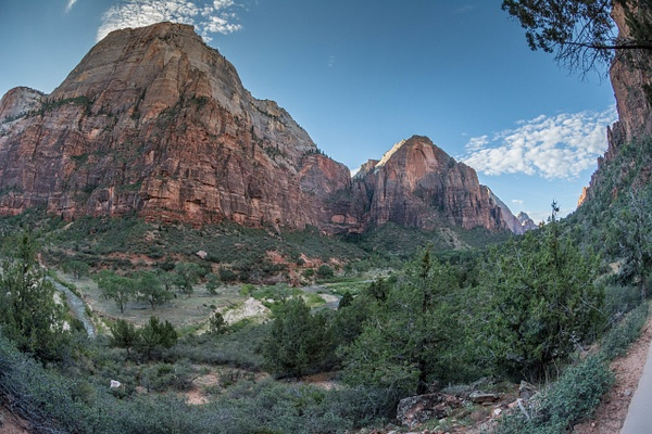 Still on the flat part of the Angels Landing trail to...