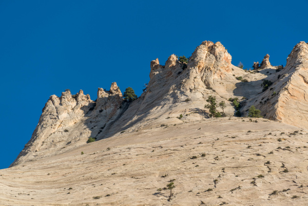 Looks like turrets along the ridge to the west along the...