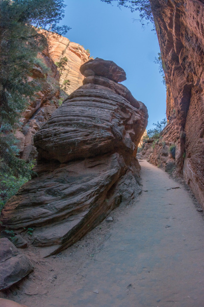 Coming out of Refrigerator Canyon to the start of...