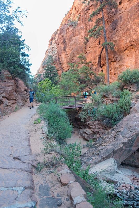 Climbing through Refrigerator Canyon.