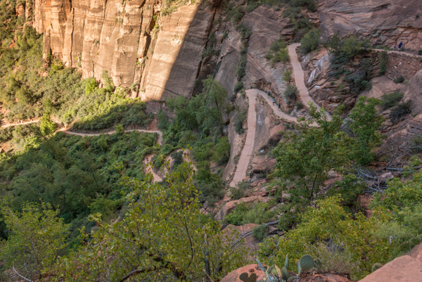 Most of the way up the first set of switchbacks, looking...