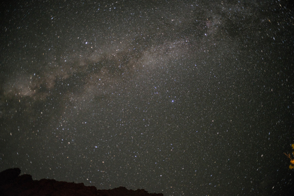 Milky Way from the floor of Zion Canyon at Zion Lodge by...