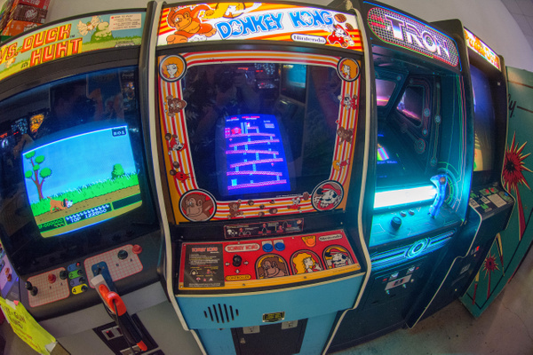 Some old favorite arcade games! by Willis Chung