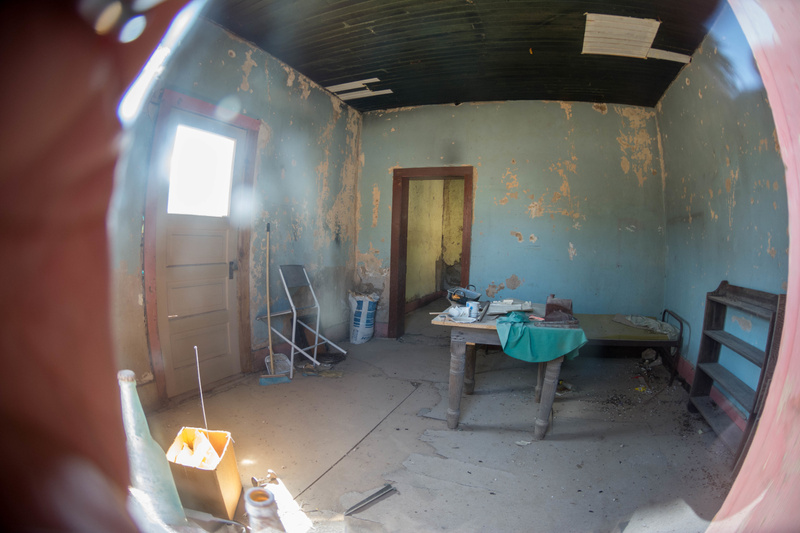 A bit barren inside.  Definitely a fixer-upper.