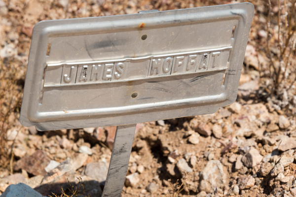 James Moffat was a prospector and became town historian...