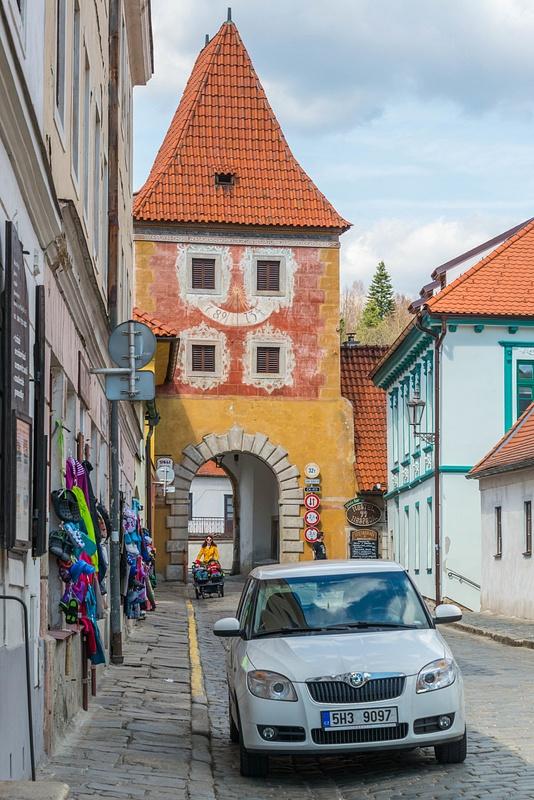Back at  Budějovická brána (Budweiser Gate) for a quick drive around town.