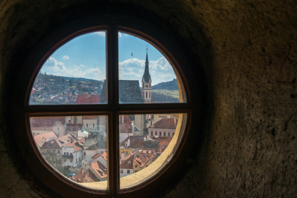 Saint Vitus Church from part way up the Bell Tower by...