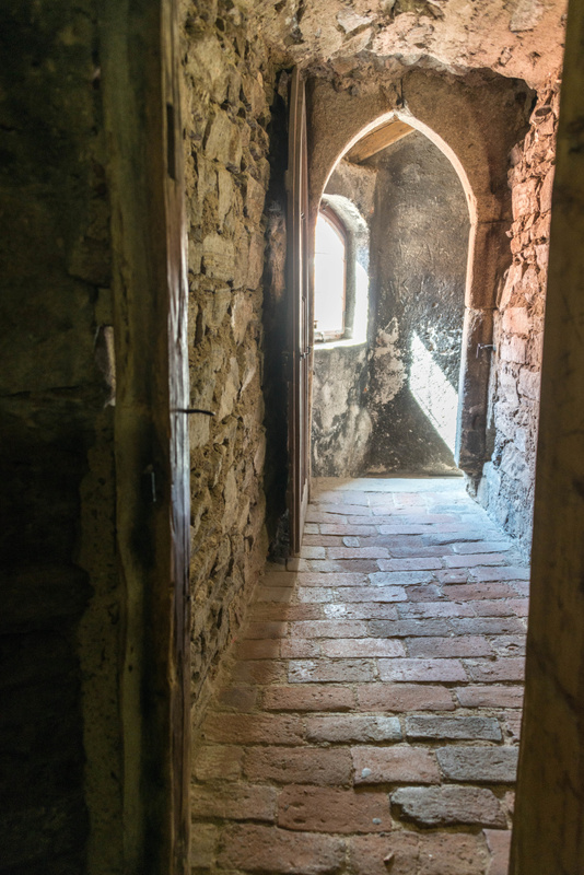 A hallway in the bell tower