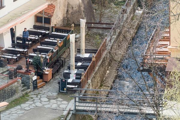 Restaurant of the Pension Kristínka on the south bank...