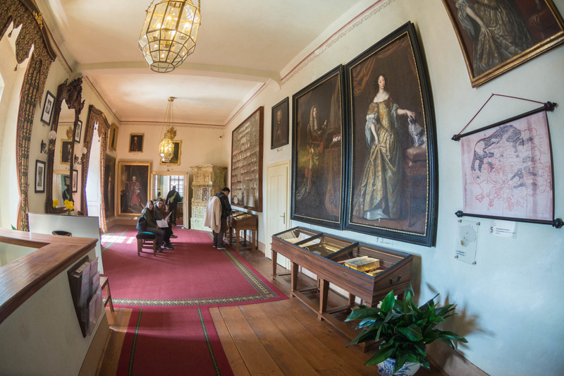 Inside the castle, some of the fantastic art collection.