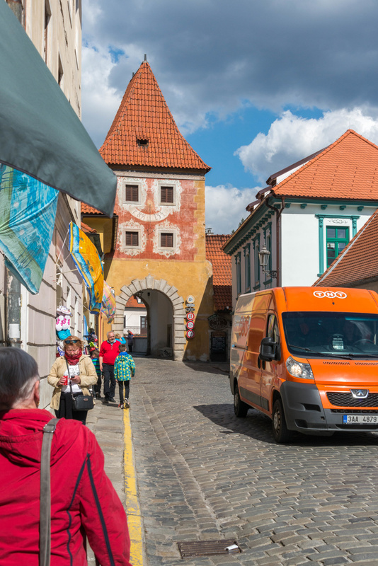 Starting our exploration on  Latrán, near Budějovická brána (Budweiser Gate)