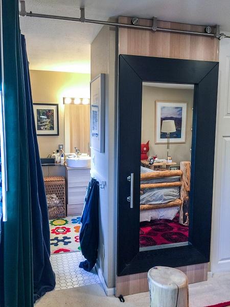 2018Apr Ikea Mirror Barn Door by Willis Chung