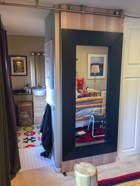 Mirror door in place, right sided stopper in place at...