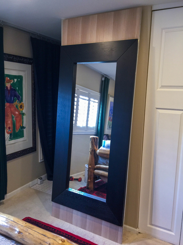 Completed door panel with White Oak veneer from back panel of an Askvoll wardrobe.