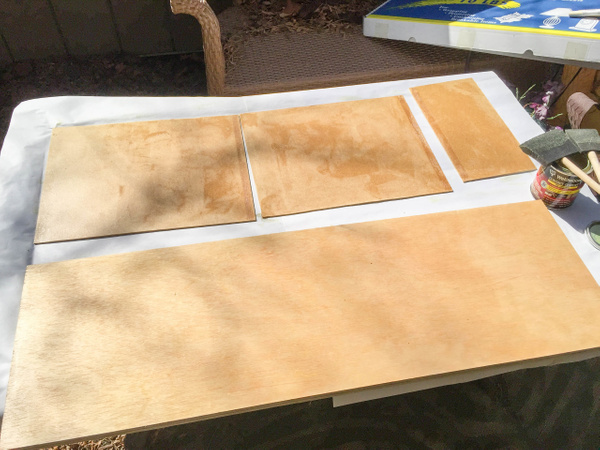 Contact cement applied, 20 minutes to dry... by Willis...