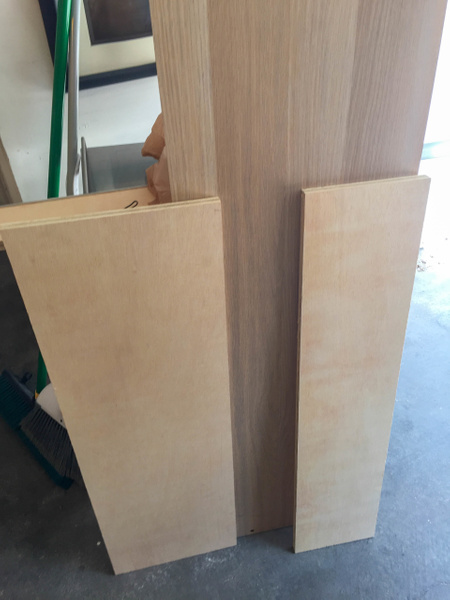 Header and footer panels of 5/8 inch interior plywood....