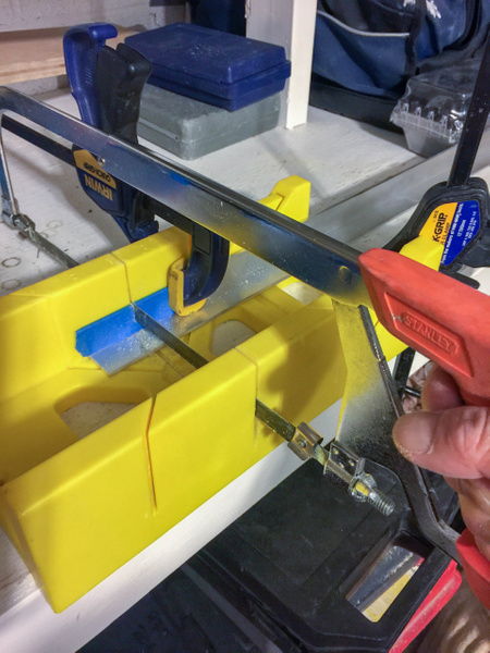 Aluminium L-rails for the sides, 1 inch on each side,...