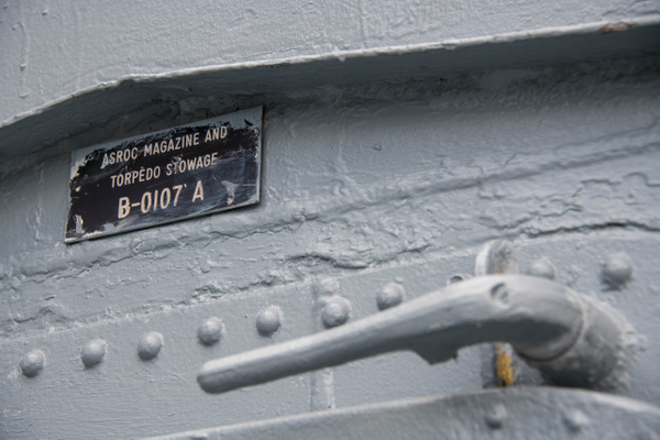 Details on a hatch near the hangar and ASROC launcher....